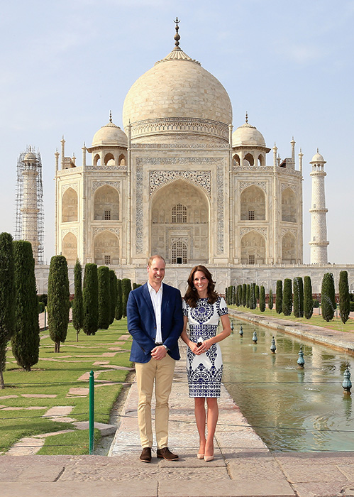 Will and Kate Taj Mahal